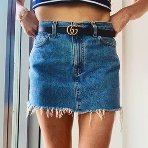 VTG Levi's High-Rise Medium Wash Denim Mini Skirt